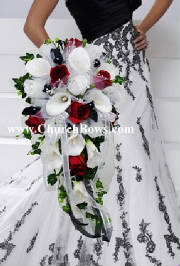 Red Black White Calla Lily Bouquet